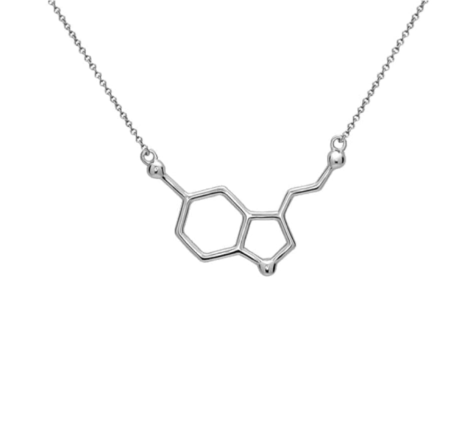 Silver Serotonin Necklace by PVOS