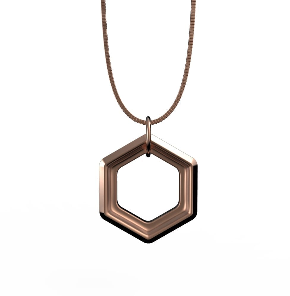 Rose Gold Positive Vibes Necklace