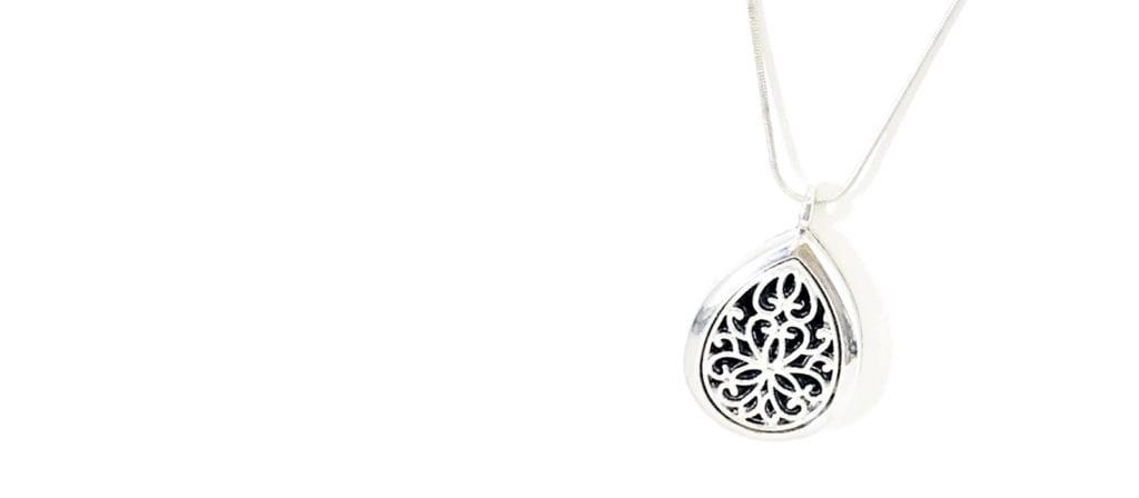 Teardrop Diffuser Necklace by JKCE Designs